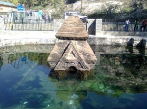 Ancient Siva Temple Manasbal Lake